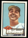 1952 Topps Reprints #394  Billy Herman  Front Thumbnail