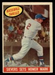 1959 Topps #465   -  Roy Sievers Sievers Sets Homer Mark Front Thumbnail