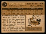 1960 Topps #15  Pete Runnels  Back Thumbnail