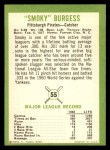 1963 Fleer #55  Smoky Burgess  Back Thumbnail
