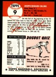 1991 Topps 1953 Archives #9  Joe Collins  Back Thumbnail