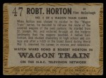1958 Topps TV Westerns #47  Robert Horton   Back Thumbnail