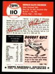 1991 Topps 1953 Archives #110  Herman Wehmeier  Back Thumbnail