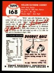 1991 Topps 1953 Archives #168  Willard Schmidt  Back Thumbnail