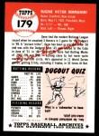 1991 Topps 1953 Archives #179  Gene Hermanski  Back Thumbnail
