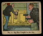 1931 Johnson Candy Dick Tracy #11   Big Boy Caught in the Act Front Thumbnail