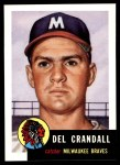 1953 Topps Archives #197  Del Crandall  Front Thumbnail
