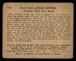 1941 Gum Inc. Uncle Sam Home Defense #114   Civilian Type Gas Mask Back Thumbnail