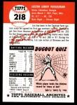1991 Topps 1953 Archives #218  Les Fusselman  Back Thumbnail