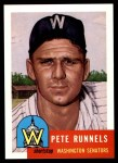 1991 Topps 1953 Archives #219  Pete Runnels  Front Thumbnail