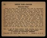 1941 Gum Inc. Uncle Sam Home Defense #22   Abandon Ship Back Thumbnail