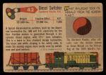 1955 Topps Rails & Sails #42   Diesel Switcher Back Thumbnail