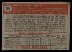 1952 Topps #208  Marlin Stuart  Back Thumbnail