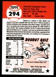 1991 Topps 1953 Archives #294  Wally Post  Back Thumbnail