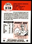 1953 Topps Archives #318  Curt Simmons  Back Thumbnail