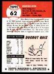 1991 Topps 1953 Archives #62  Monte Irvin  Back Thumbnail