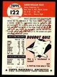 1991 Topps 1953 Archives #122  Elmer Valo  Back Thumbnail