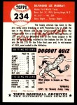 1953 Topps Archives #234  Ray Murray  Back Thumbnail