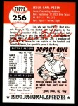 1953 Topps Archives #256  Les Peden  Back Thumbnail