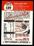 1953 Topps Archives #139  Sammy White  Back Thumbnail