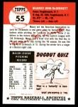 1991 Topps 1953 Archives #55  Maurice McDermott  Back Thumbnail