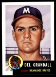 1991 Topps 1953 Archives #197  Del Crandall  Front Thumbnail
