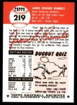 1991 Topps 1953 Archives #219  Pete Runnels  Back Thumbnail