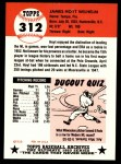 1991 Topps 1953 Archives #312  Hoyt Wilhelm  Back Thumbnail