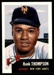 1991 Topps 1953 Archives #20  Hank Thompson  Front Thumbnail
