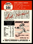 1953 Topps Archives #251  Sid Hudson  Back Thumbnail