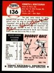 1953 Topps Archives #136  Ken Heintzelman  Back Thumbnail