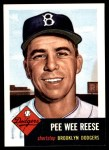 1991 Topps 1953 Archives #76  Pee Wee Reese  Front Thumbnail