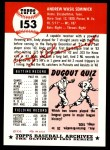 1991 Topps 1953 Archives #153  Andy Seminick  Back Thumbnail