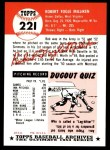 1953 Topps Archives #221  Bob Milliken  Back Thumbnail