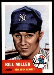 1953 Topps Archives #100  Bill Miller  Front Thumbnail