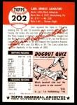 1953 Topps Archives #202  Carl Sawatski  Back Thumbnail