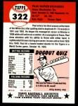 1953 Topps Archives #322  Paul Richards  Back Thumbnail