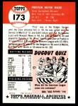 1953 Topps Archives #173  Preston Ward  Back Thumbnail