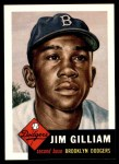 1953 Topps Archives #258  Jim Gilliam  Front Thumbnail