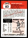 1953 Topps Archives #83  Howie Pollet  Back Thumbnail