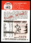 1991 Topps 1953 Archives #142  Vic Wertz  Back Thumbnail