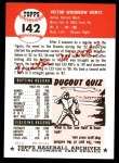 1991 Topps 1953 Archives #142  Vic Wertz  Back Thumbnail