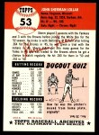 1991 Topps 1953 Archives #53  Sherm Lollar  Back Thumbnail