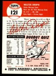 1991 Topps 1953 Archives #121  Walt Dropo  Back Thumbnail