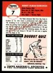 1991 Topps 1953 Archives #7  Bob Borkowski  Back Thumbnail