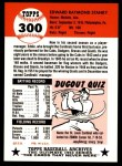 1991 Topps 1953 Archives #300  Eddie Stanky  Back Thumbnail