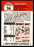 1953 Topps Archives #26  Dale Mitchell  Back Thumbnail