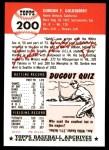 1953 Topps Archives #200  Gordon Goldsberry  Back Thumbnail