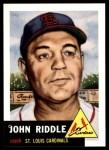 1991 Topps 1953 Archives #274  John Riddle  Front Thumbnail