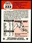 1953 Topps Archives #333  Larry Doby  Back Thumbnail